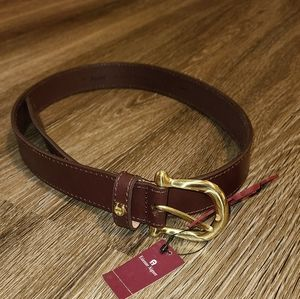Vintage 70s Etienne Aigner Brown Leather Belt